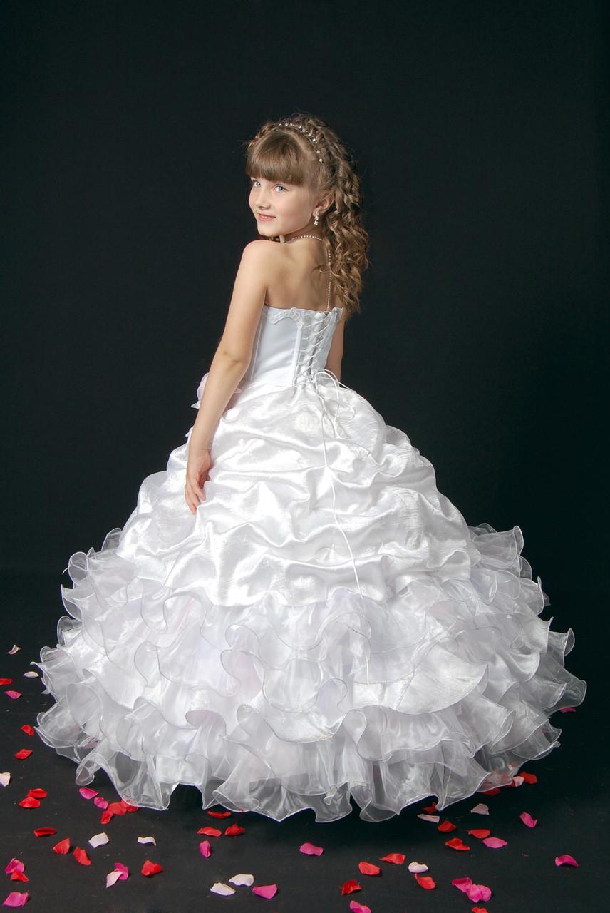 01281df2f8b Детское белое пышное платье