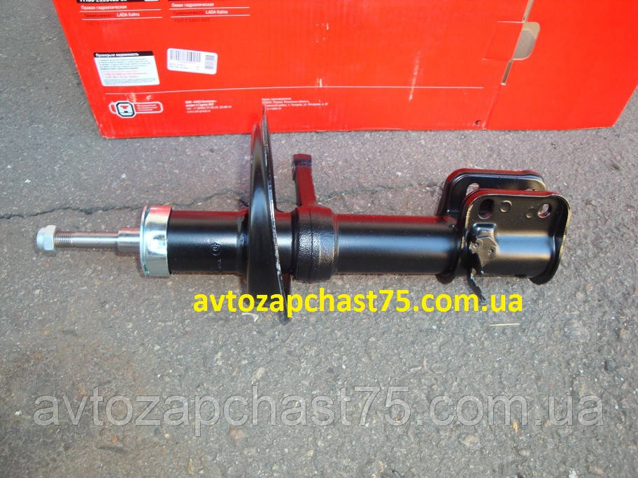 Амортизатор (стойка левая, масляная) ВАЗ 1118  Калина, производитель СААЗ, Россия