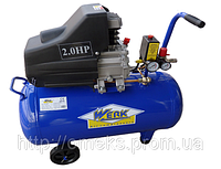 Компрессор WERK BM-24 8 атм. 1,5 кВт, вход: 200 л/мин., ресиверр 24 л. BPS