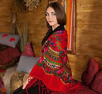 Украинская красивая хустка (125х125см, красный)