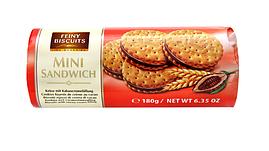 Печенье мини-сэндвич с шоколадным кремом FEINY BISCUITS, 180 гр.