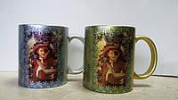 Серебрянная и золотая чашка с печатью