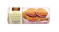 Печенье мини-сэндвич с клубничным кремом FEINY BISCUITS, 180 гр.