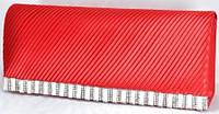 Арт 8282-1 Клатч красный 23х9,5х5см