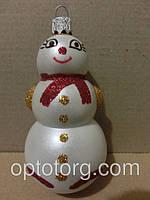 Новогодние игрушки на елку снеговик 11*6