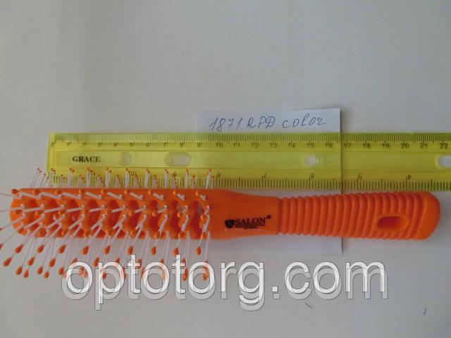 Расческа для волос SALON PROFESSIONAL  двухсторонняя color
