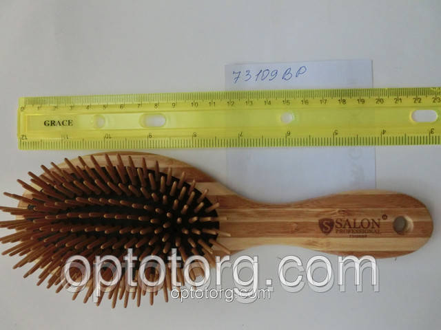 Расческа для волос массажная бамбук SALON PROFESSIONAL бамбук