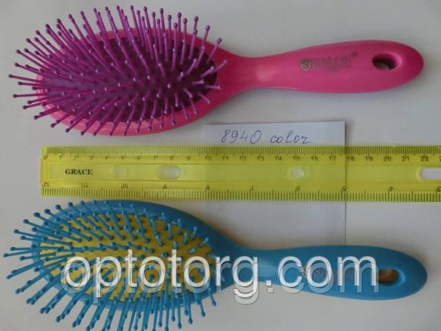 Расческа для волос массажная SALON PROFESSIONAL Color