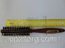 Брашинг SALON PROFESSIONAL дерево  натуральный ворс диаметр 45 мм