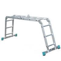 Лестница шарнирная ITOSS 4410 из четырех частей 4х3 ступ., длина 3,50/1,78/0,95 м, вес 12,3 кг BPS