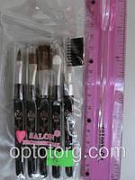Кисти для макияжа  SALON PROFESSIONAL роза набор 5 штук