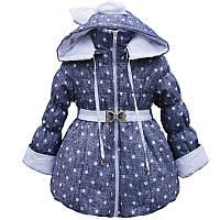Куртка-плащ  на весну с Микки-Маусами для девочки 92-98, фото 1