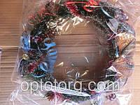 Венок Рождественский новогодние украшения объем 35см