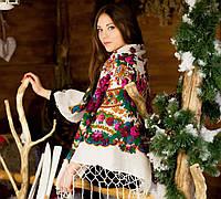 Украинский нежный платок для девушек (125х125см, белый,новый)