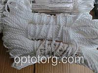 Веревка бельевая шнур В-22 белая 4мм*15м