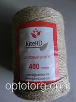 Джутовая веревка 100% лен 400 м*400 грамм