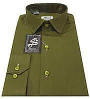 Мужская рубашка приталенная из сатина - № 10-12 ткань L 18