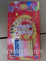Свечи для торта день рождения+12 спичек