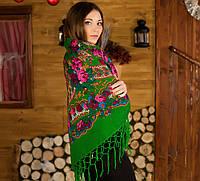 Украинский  платок (125х125см,зеленый,новый)