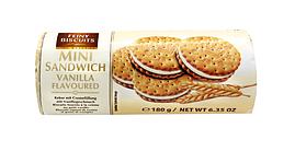 Печенье мини-сэндвич с ванильным кремом FEINY BISCUITS, 180 гр.