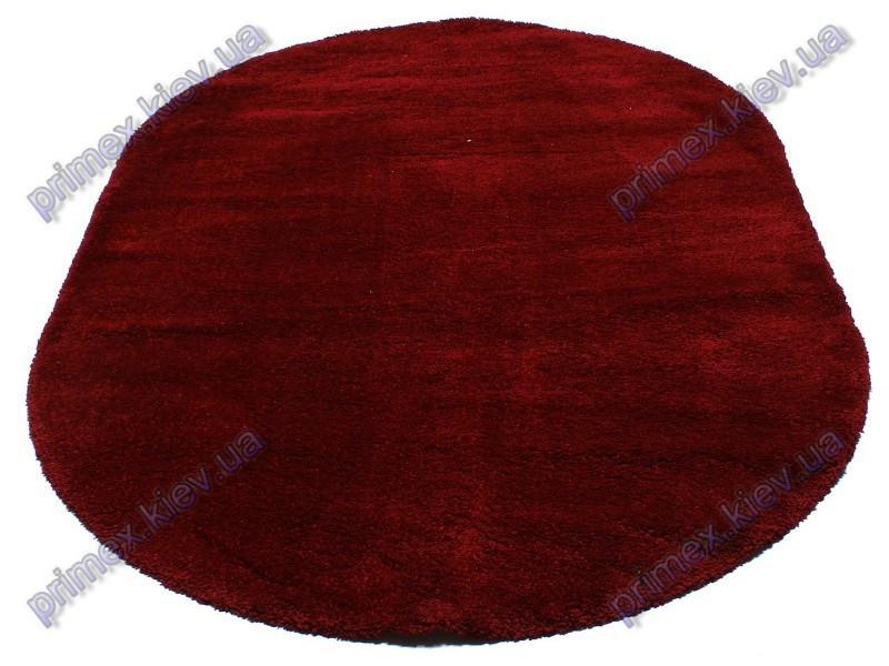 Ворсистый ковер Фристайл shaggy, однотонный, цвет красный