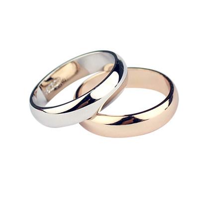 Обручальное кольцо классическое, под золото, покрытие золото 18К, бижутерия, розовое золото, красное золото