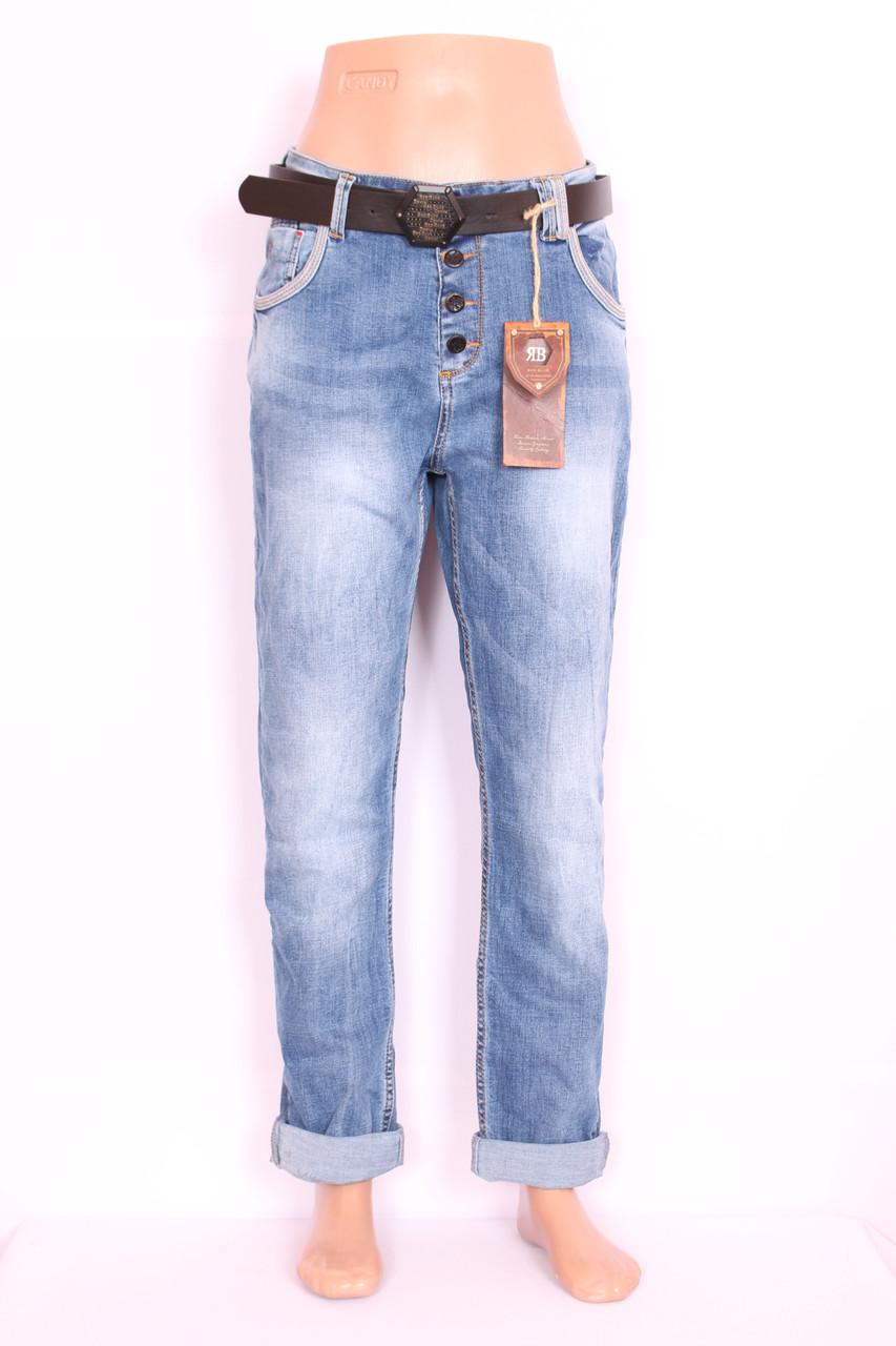 Женские турецкие джинсы бойфренды  Red blue большого размера код 2004