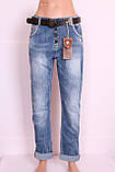 Женские турецкие джинсы бойфренды  Red blue большого размера код 2004, фото 2
