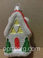 Новогодние игрушки на елку новогодний домик 8*5