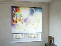 Рулонные шторы с фотопечатью детские домики