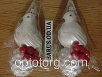 Новогодние игрушки на елку  Птицы 13 см