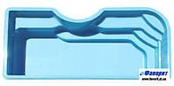 """Стационарный стекловолоконный бассейн """"Корсика"""" 8,40х3,80х1,60 м"""