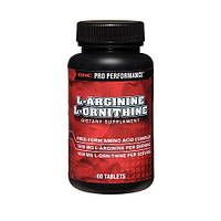 Аминокислоты GNC L-Arginine L-Ornithine (60 tabs)