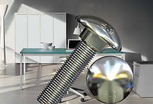 Болт М10 ГОСТ 7802-81, DIN 603 мебельный