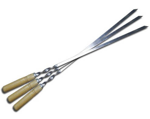 Шампур н/ж с деревянной ручкой 600мм - модель 1, фото 2