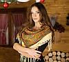 Модна українська хустка з орнаментом для жінок (100х100см)