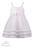 Праздничное платье для девочек белое, фото 1
