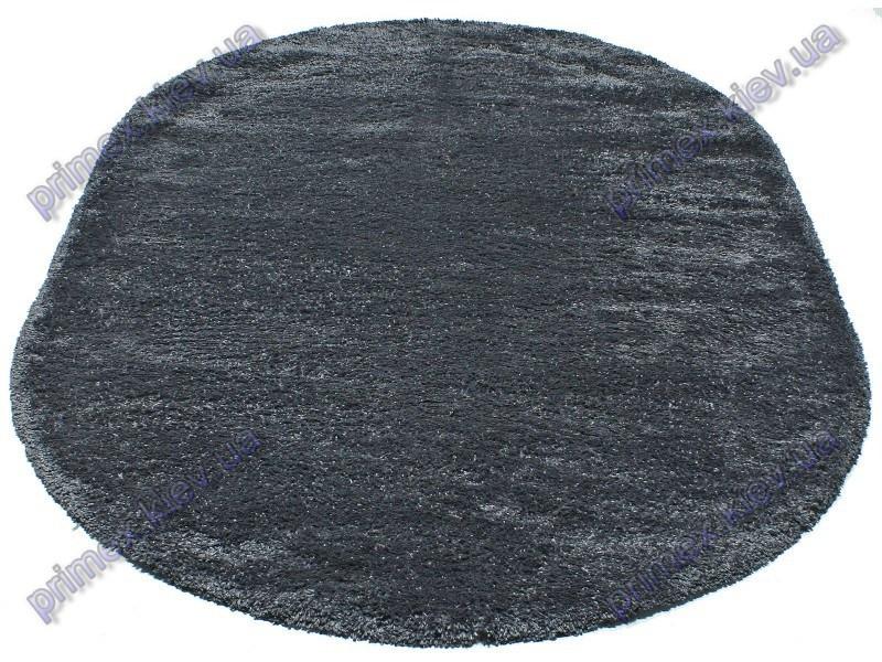 Ворсистий килим Фрістайл shaggy, однотонний, колір сірий з синім відливом