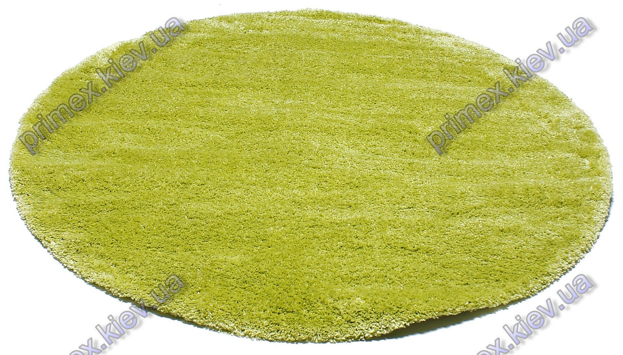 Ворсистий килим Фрістайл shaggy, однотонний колір лайм