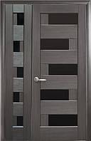 Комплект дверей двустворчатый Пиана с черным стеклом от Новый стиль (венге new, зол.ольха, каштан, ясень,grey) Grey