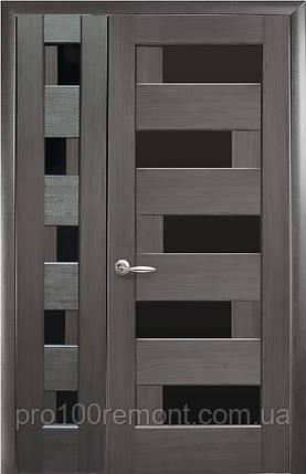 Комплект дверей двустворчатый Пиана с черным стеклом от Новый стиль (венге new, зол.ольха, каштан, ясень,grey), фото 2