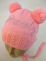 Вязанные шапочки для девочек.