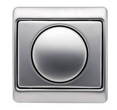 Светорегулятор поворотный 400 Вт Berker Arsys нержавеющая сталь