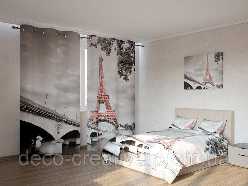Фотокомплект Эйфелева башня на чёрно - белом фоне