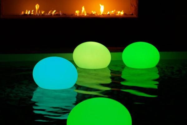 украшение шарами с подсветкой