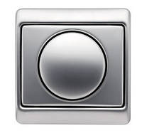 Светорегулятор поворотно-нажимной 600 Вт Berker Arsys нержавеющая сталь