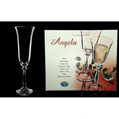 Angela  Набор бокалов для шампанского 190 мл - 2 шт Bohemia b40600/190/2