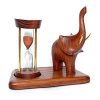 Часы песочные на подставке со скульптурой Слон