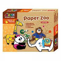 Игровой набор для творчества Bino Бумажный зоопарк СН1090