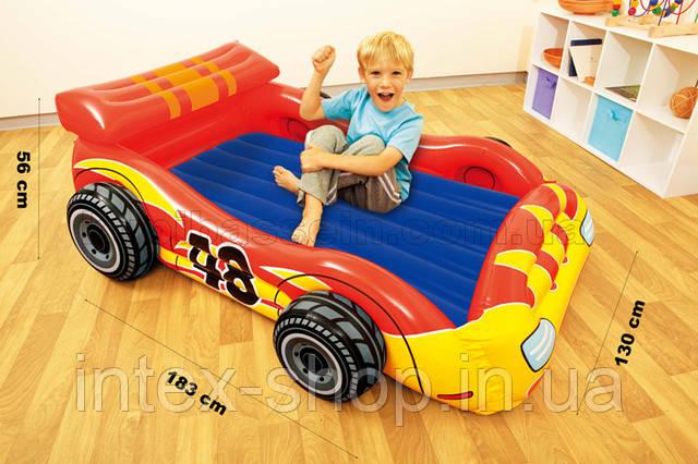 """Детская надувная кровать Intex 48665 NP """"Гонщик"""""""